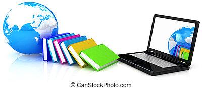 concepto, educación, en línea