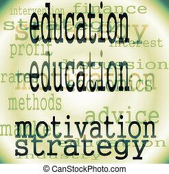 concepto, educación, palabra, plano de fondo