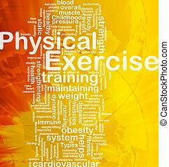 concepto, ejercicio, plano de fondo, físico