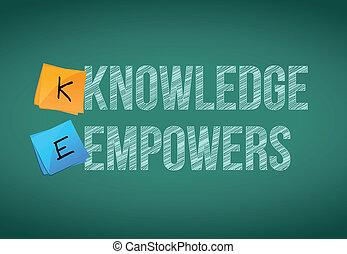 concepto, empowers, conocimiento, empresa / negocio