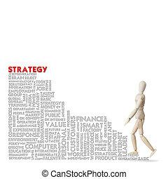 concepto, empresa / negocio, éxito, escalera carrera, modelo de madera, subidas
