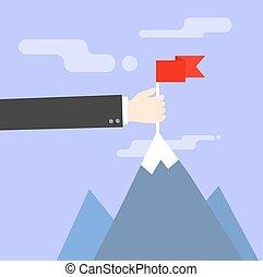 concepto, empresa / negocio, exitoso, ilustración, vector,...