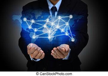 concepto, empresa / negocio, internet