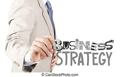 concepto, empresa / negocio, mano, hombre de negocios, estrategia, dibujo