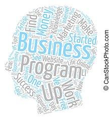 concepto, empresa / negocio, texto, began, cómo, wordcloud, plano de fondo, mi