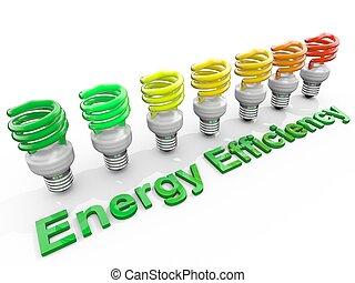 concepto, energía, gráfico, eficiencia, symolizing, ...