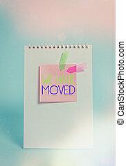 concepto, escritura, pastel, ubicación, volver a poner, ...