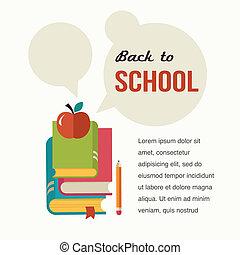 concepto, escuela, libros, backgound, espalda, leer