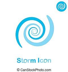 concepto, espiral, tormenta
