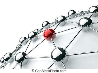 concepto, establecimiento de una red, internet