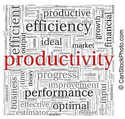 concepto, etiqueta, productividad, nube