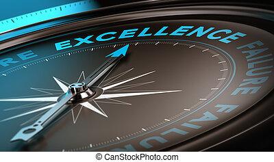 concepto, excelencia, calidad, servicio