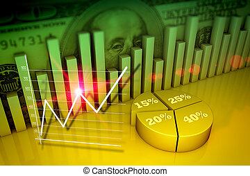 concepto financiero, empresa / negocio