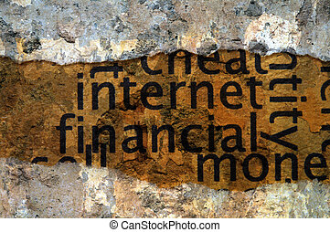 concepto, financiero, internet