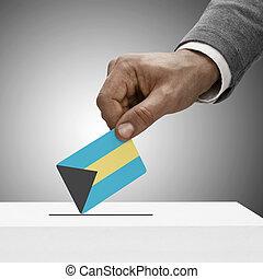 concepto, flag., -, bahamas, negro, tenencia, votación,...