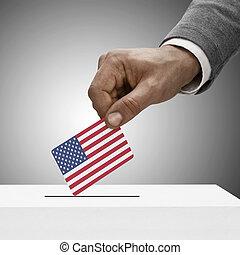 concepto, flag., -, estados, unido, negro, tenencia,...