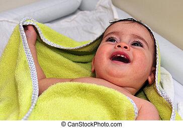 concepto, foto, -, bebé