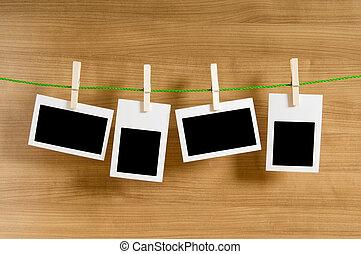 concepto, foto, -, fotos, diseñador, blanco, marcos, su