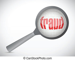 concepto, fraude, search., ilustración, debajo