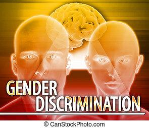 concepto, género, Extracto,  digital, Ilustración, discriminación