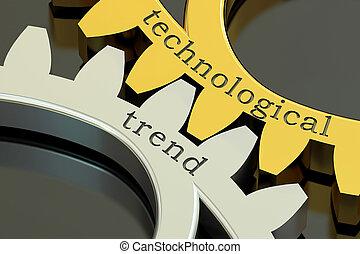 concepto, gearwheels, tendencia, interpretación, tecnológico...