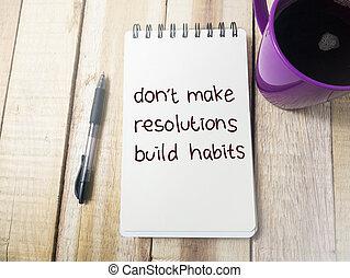 concepto, haga no, marca, de motivación, citas, hábitos, construya, palabras, resolutions