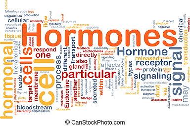 concepto, hormonal, plano de fondo, hormonas