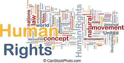 concepto, humano, plano de fondo, derechos