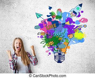concepto,  idea, creativo