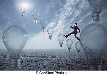 concepto, idea, innovación