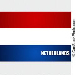 concepto, illustration., vector, banderas, países bajos,...