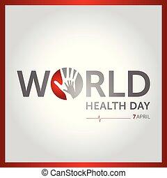 concepto, ilustración, abril, vector, salud, 7, mundo,...