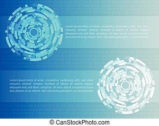 concepto, ilustración, fondo., vector, cyber, seguridad, tecnología, abtract