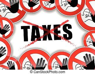 concepto, impuestos, no