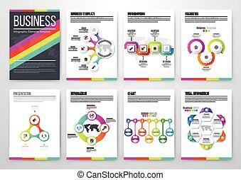 concepto, infographic, moderno, vector