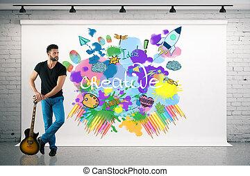 concepto, inicio, creativo