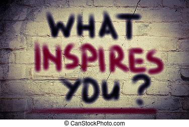 concepto, inspirar