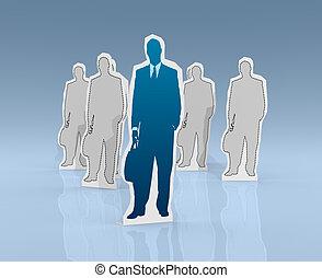 concepto, líder, éxito