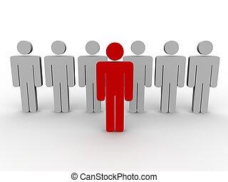 concepto, líder, equipo