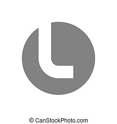 concepto, l, vector, carta, logotipo, icon.