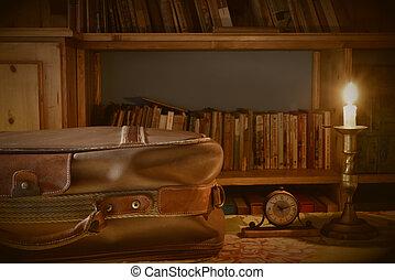 concepto, lectura, viajar