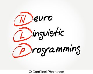 concepto, linguistic, neuro, programación, -, siglas, salud, nlp