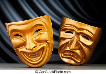 concepto, máscaras, teatro