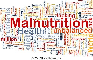 concepto, malnutrition, plano de fondo
