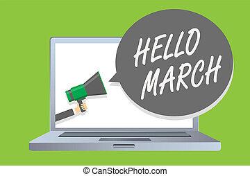 concepto, mensaje de texto, altavoz, march., cuádruple,...