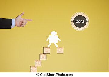 concepto, meta, empresa / negocio