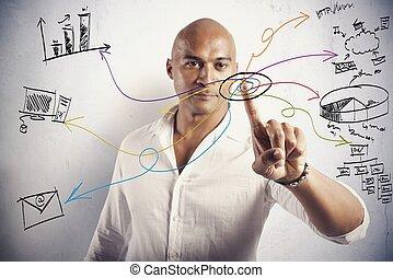 concepto, moderno, empresa / negocio