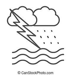 concepto, náutico, icono, señal, windstorm, plano de fondo, ...