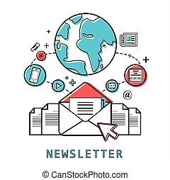 concepto, newsletter