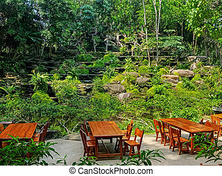 concepto, no, jardín, restaurante, gente, selva